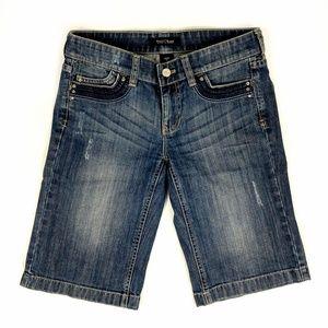 White House Black Market Bermuda Jean Shorts 0